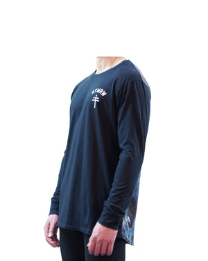 No Tomorrow - Milky Way Long Sleeve Tee - Black