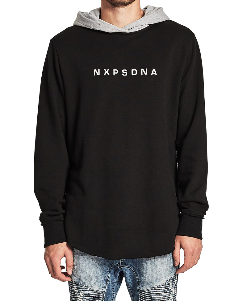Nena And Pasadena - Murder Raw Hem Hooded Sweatshirt - Jet Black