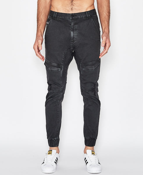 Flight Pants - Ripped Washed Black