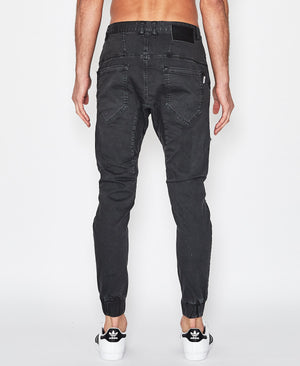 Nena And Pasadena - Flight Pants - Ripped Washed Black
