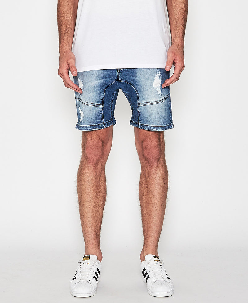 Nena & Pasadena - Flight Denim Short - Lincoln Blue