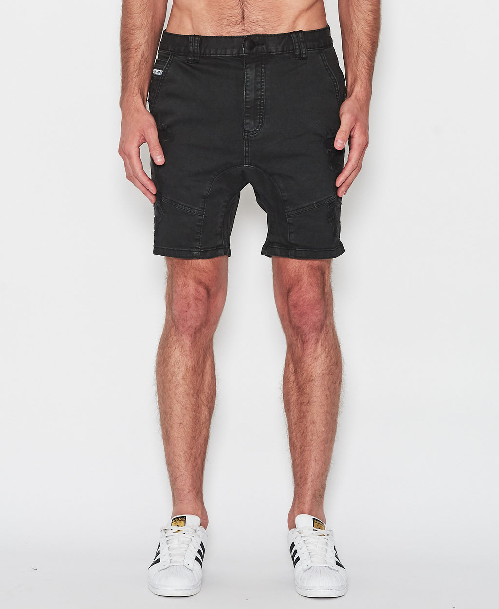 Nena And Pasadena - Flight Shorts - Washed Black
