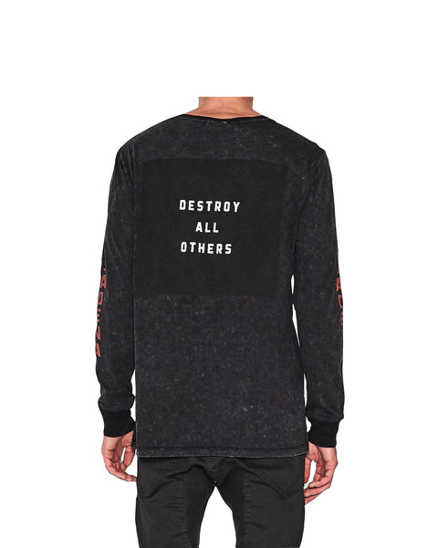 Reverse Long Sleeve T-Shirt - Acid Black