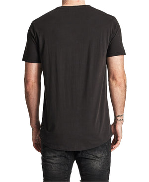 Nena And Pasadena - Paramount Standard Scoop Back Tee - Jet Black