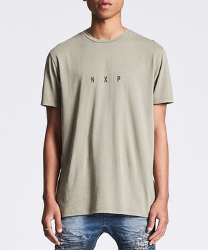 Nena And Pasadena - Paranoid Scoop Back Tee - Pigment Khaki