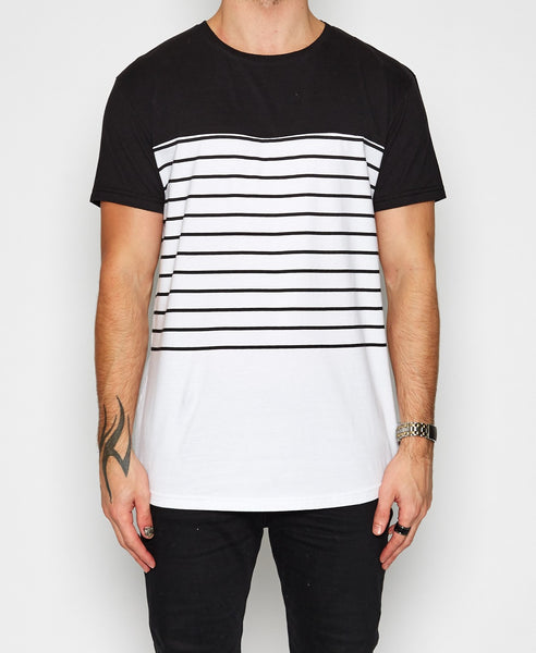 Channel Tee - White & Black