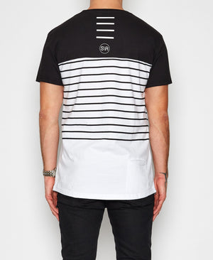 Sushi Radio - Channel Tee - White & Black