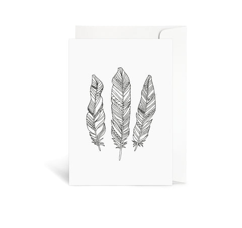 Aztec Feathers Card