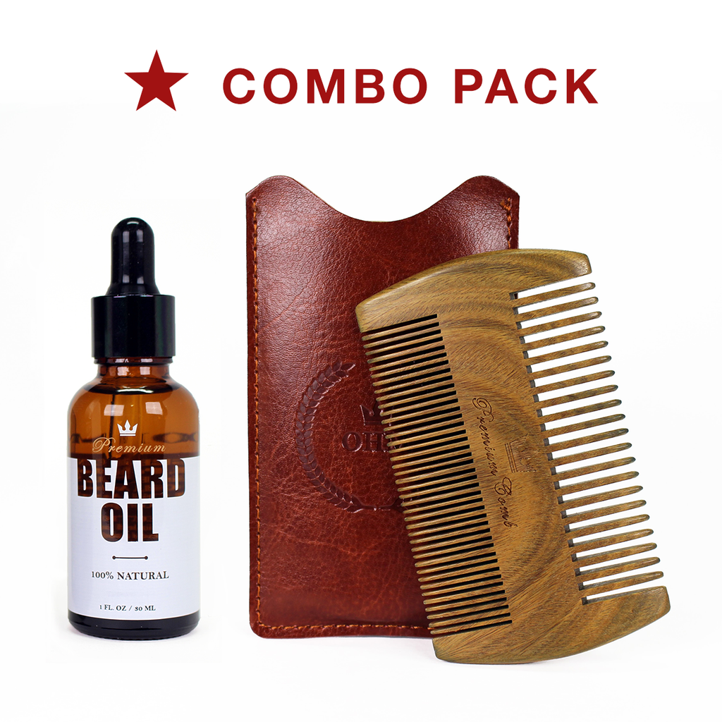 Beard Comb and Beard Oil - Combo Pack