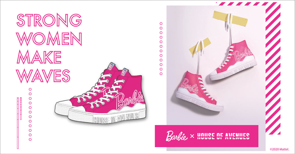 HOUSE OF AVENUES x BARBIE Crossover Shoes Sneakers Hong Kong Limited Edition