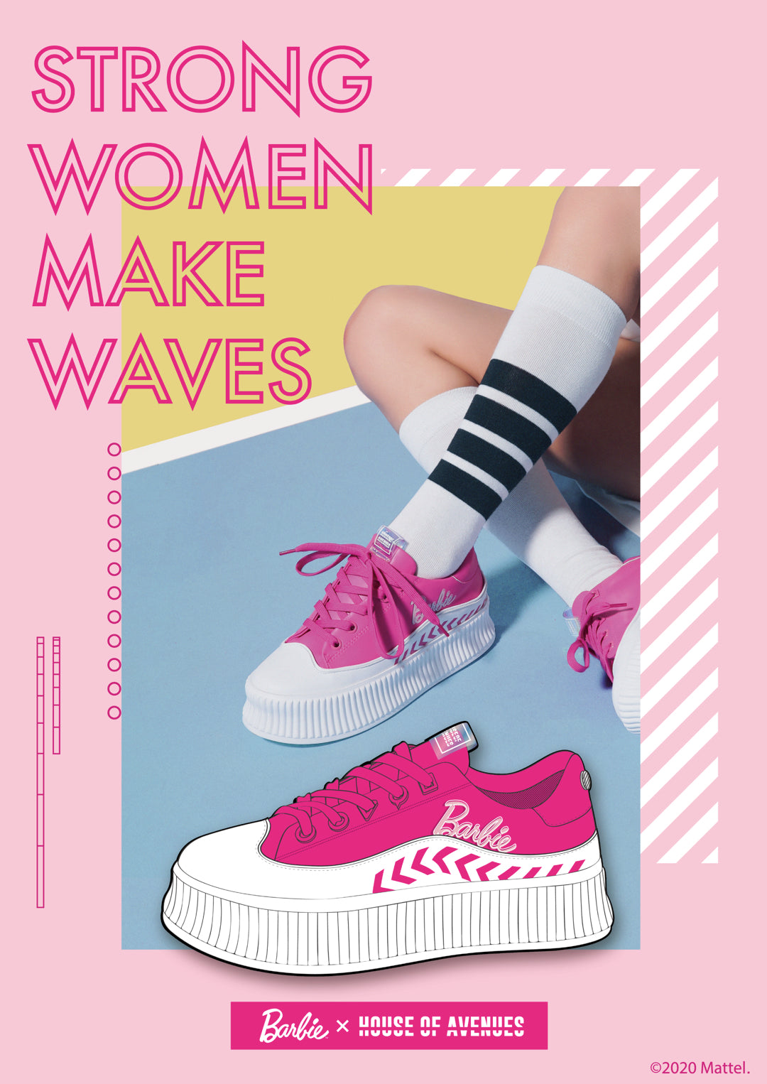 House of Avenues x Barbie Crossover shoes 芭比聯名鞋款