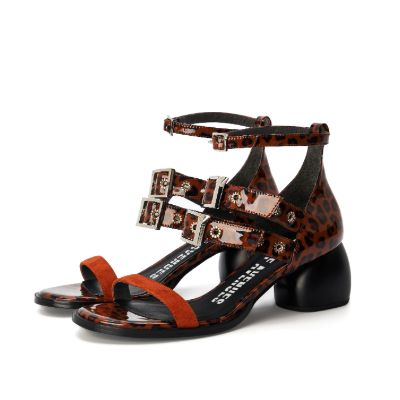 Ladies' Eyelet Straps Heel Sandal 4452 - House of Avenues - Designer Shoes Online