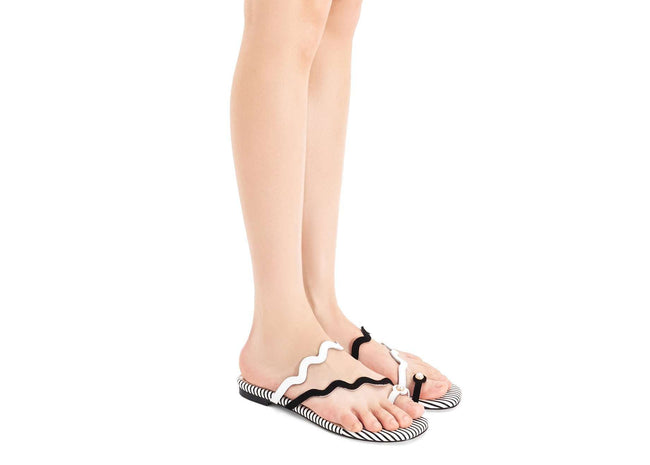 WAVE STRAP FLAT SANDAL 5318 - House of Avenues - Designer Shoes Online