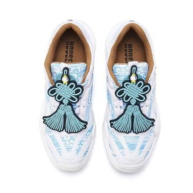 Ladies Cloud Print Chunky Sneaker 5287 Navy - House of Avenues - Designer Shoes | 香港 | 女鞋 House of Avenues