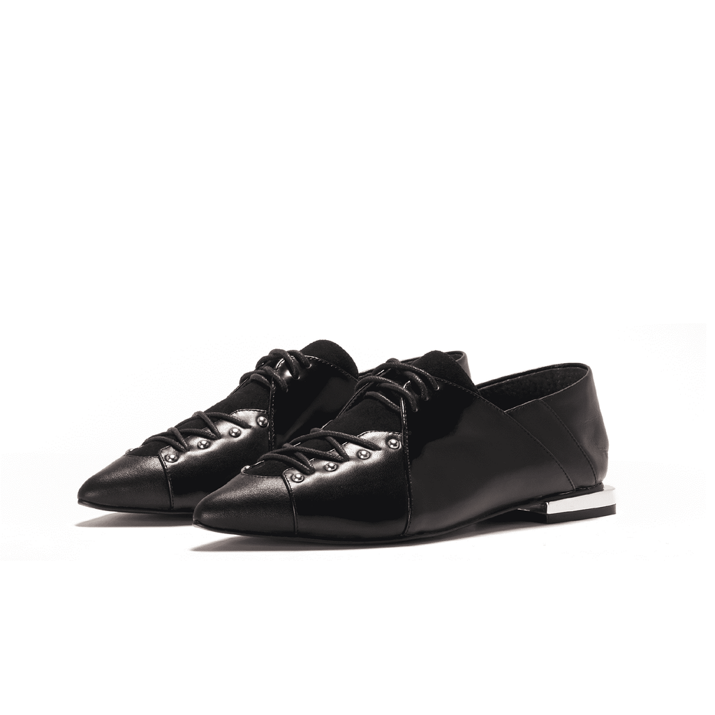 Ladies Studs Lace Up Oxford 5388 Black - House of Avenues - Designer Shoes | 香港 | 女鞋 House of Avenues