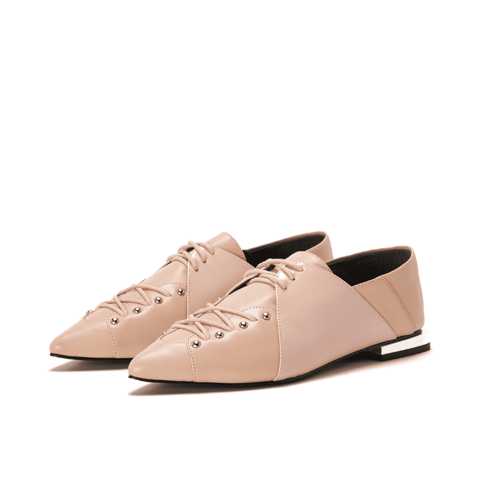 Ladies Studs Lace Up Oxford 5388 Pink - House of Avenues - Designer Shoes | 香港 | 女鞋 House of Avenues