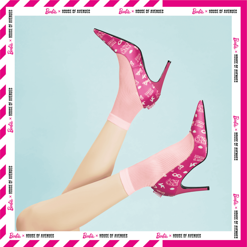 Barbie x House Of Avenues Ladies' Allover Print Pinky Stiletto High Heel Pump 5333 - House of Avenues - Designer Shoes Online 香港女鞋網店