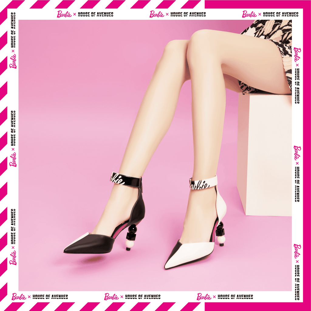 Barbie x House Of Avenues Ladies' Color Block Ankle Strap Pumps 5331 - House of Avenues - Designer Shoes Online 香港女鞋網店