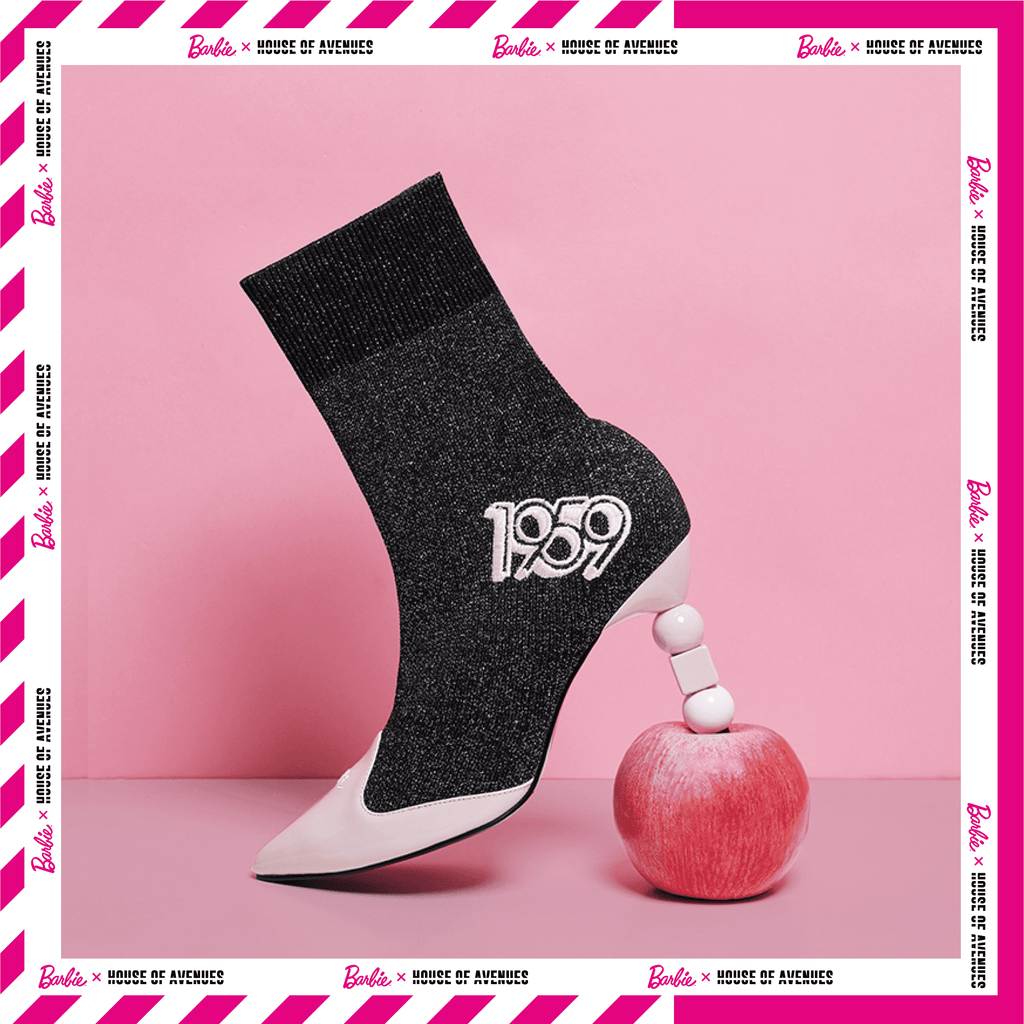 Barbie X House Of Avenues Ladies Flyknit Heel Boot 5336 Silver - House of Avenues - Designer Shoes Online 香港女鞋網店