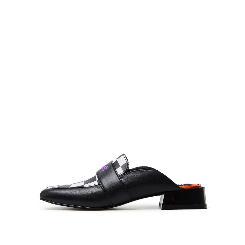 Rider Pattern Mule 5543 Black - House of Avenues - Designer Shoes | 香港 | 女鞋 House of Avenues