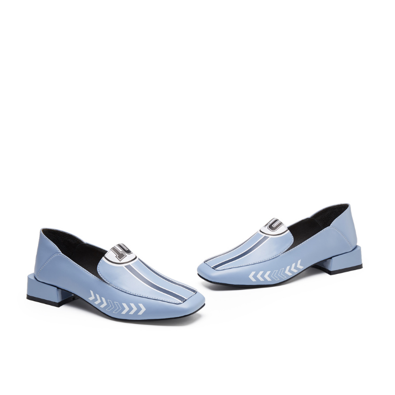 Rider Pattern Loafer 5542 Blue - House of Avenues - Designer Shoes | 香港 | 女鞋 House of Avenues