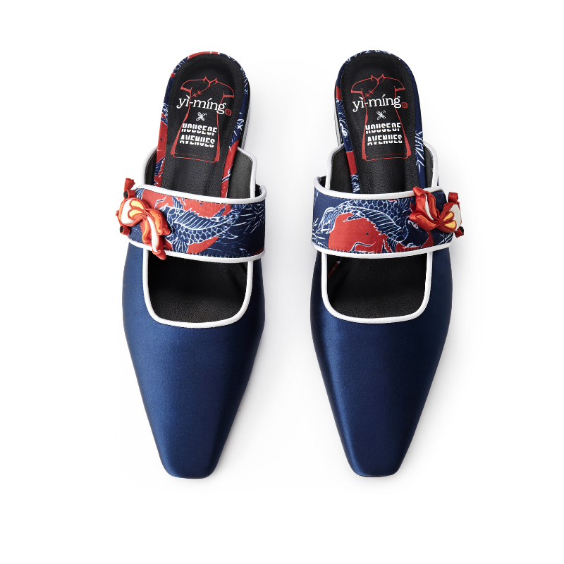 Ladies Square Toe Mule Sandal 5608 Navy - House of Avenues - Designer Shoes | 香港 | 女鞋 House of Avenues