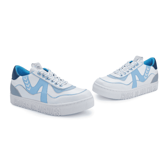 Barbie x House Of Avenues Ladies Lace Up Flat Sneaker 5528 Light Blue - House of Avenues - Designer Shoes Online 香港女鞋網店