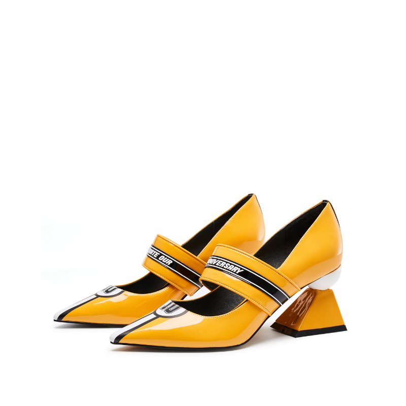 Color Block Mary Jane Pumps 5541 Yellow - House of Avenues - Designer Shoes | 香港 | 女鞋 House of Avenues