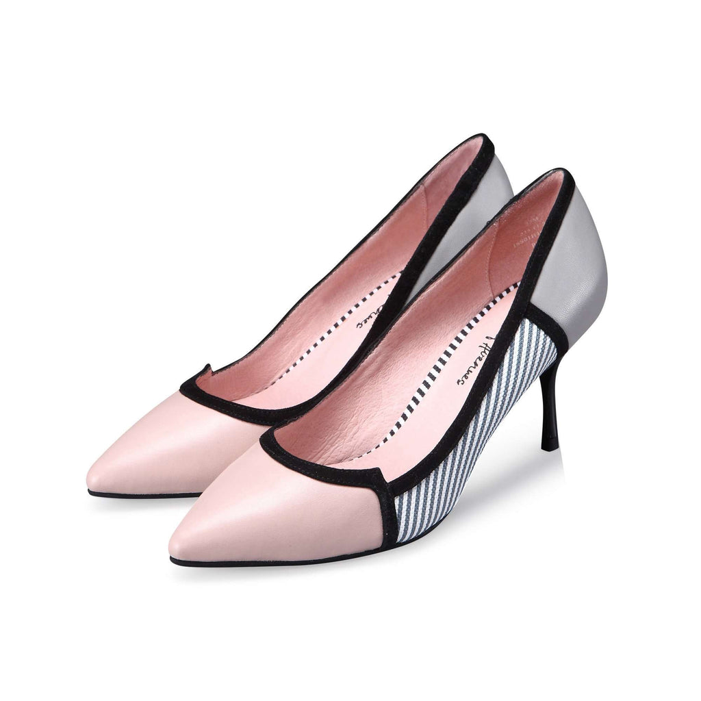 Ladies' Stripe Stripe Stiletto Heel Pumps 2249 Pink - House of Avenues - Designer Shoes | 香港 | 女鞋 House of Avenues