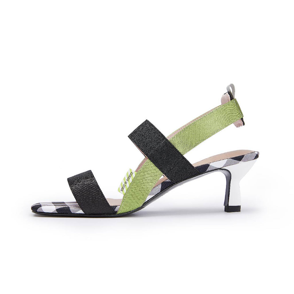 Sea You Soon Color Block Heel Sandals 5537 - House of Avenues - Designer Shoes | 香港 | 女鞋 House of Avenues