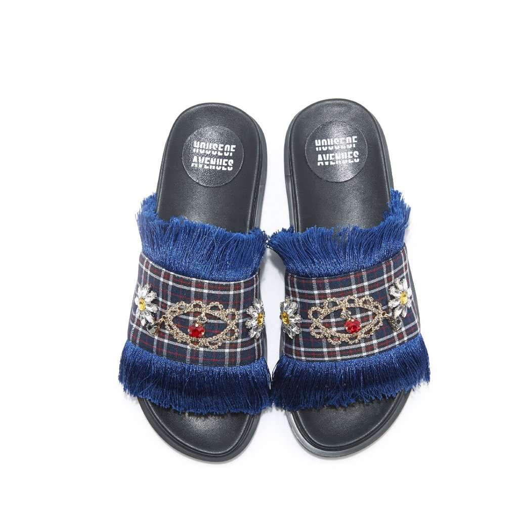 Ladies Bohemian Tassel Slipper 4458 - House of Avenues - Designer Shoes Online 香港女鞋網店