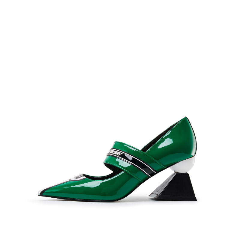 Color Block Mary Jane Pumps 5541 Green - House of Avenues - Designer Shoes | 香港 | 女鞋 House of Avenues