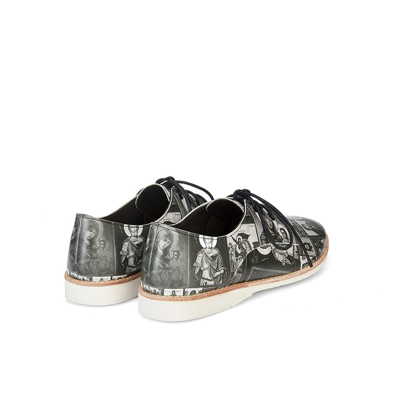 Ladies Casual Print Oxford HV02 Black - House of Avenues - Designer Shoes | 香港 | 女鞋 House of Avenues