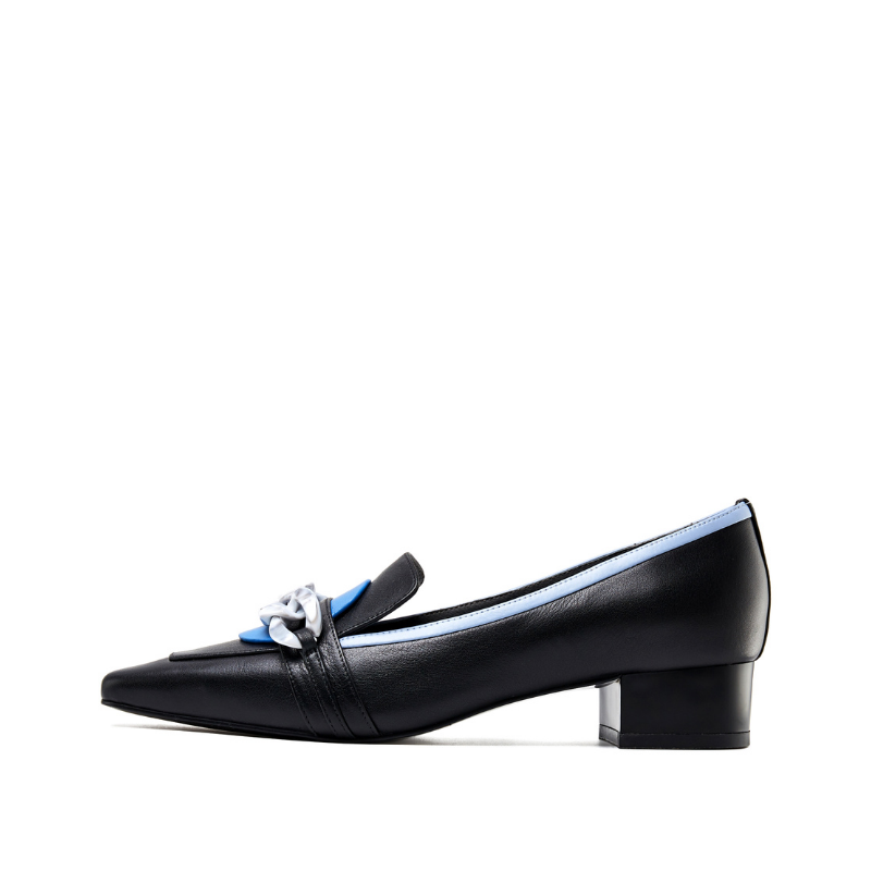 Ladies Retro Style Color Block Loafer 5567 Black - House of Avenues - Designer Shoes | 香港 | 女鞋 House of Avenues