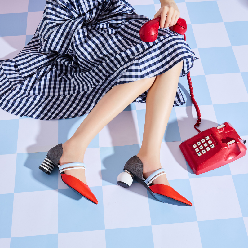 Ladies Color Blocking Mary Jane Pumps 5601 Orange - House of Avenues - Designer Shoes | 香港 | 女鞋 House of Avenues