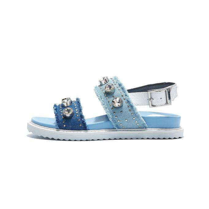 RHINESTONE DENIM SANDAL 5002 - House of Avenues - Designer Shoes | 香港 | 女鞋 House of Avenues