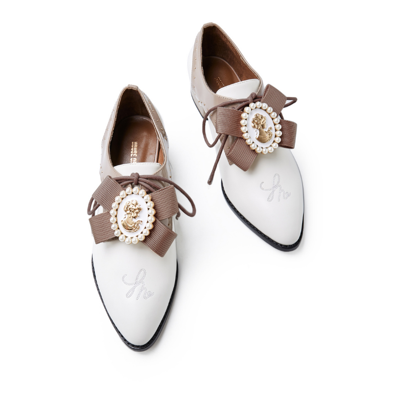 Ladies Retro Oxford 5555 White - House of Avenues - Designer Shoes | 香港 | 女鞋 House of Avenues