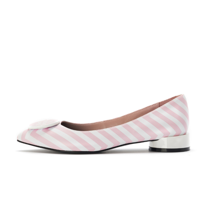 Barbie x HOA Ladies' Stripe Flat Pump 5334 Pink - House of Avenues - Designer Shoes | 香港 | 女鞋 House of Avenues