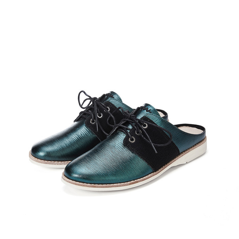 Ladies Casual Mule Style Oxford HV03 Turquoise - House of Avenues - Designer Shoes | 香港 | 女鞋 House of Avenues