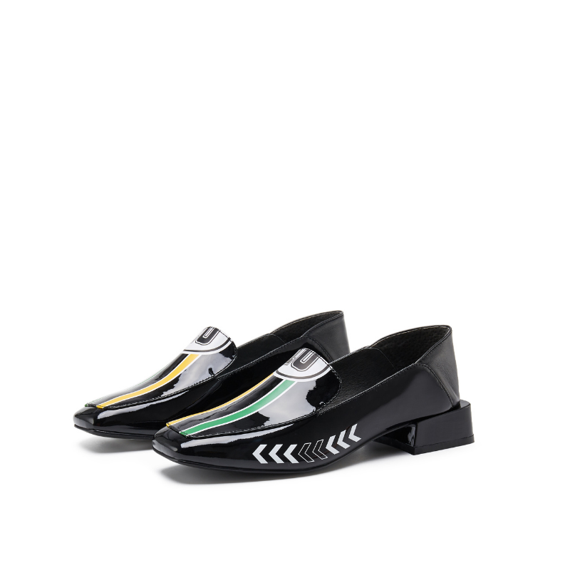 Rider Pattern Loafer 5542 Black - House of Avenues - Designer Shoes | 香港 | 女鞋 House of Avenues