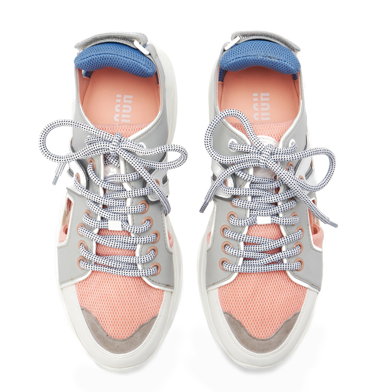 Ladies Cut Out Panelled Sneaker 5327 Pink - House of Avenues - Designer Shoes | 香港 | 女鞋 House of Avenues