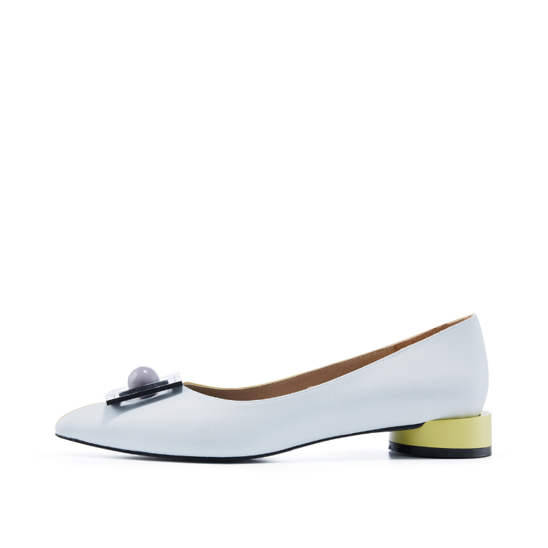 Ladies' Memphis Pattern Flat Pumps 5603 Yellow - House of Avenues - Designer Shoes | 香港 | 女鞋 House of Avenues