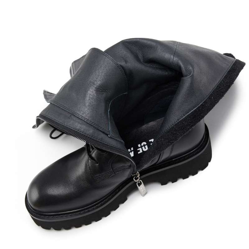 Ladies Leather Combat Boot 5564 Black - House of Avenues - Designer Shoes | 香港 | 女鞋 House of Avenues