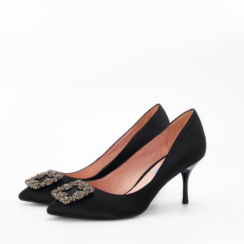 DB Ladies Ornament Heel Pumps DB010068 Black - House of Avenues - Designer Shoes | 香港 | 女鞋 House of Avenues