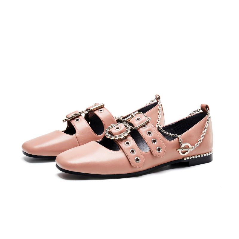 Ladies Punky Style Flat Pump 5559 Pink - House of Avenues - Designer Shoes Online 香港女鞋網店