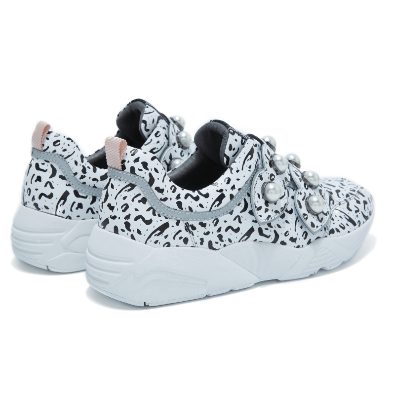 JANINA X HOA Ladies Pearl on Print Sneaker 4380 White - House of Avenues - Designer Shoes | 香港 | 女鞋 House of Avenues