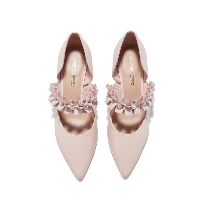 Ladies Elegant d'Orsay Pumps 5345 Pink - House of Avenues - Designer Shoes | 香港 | 女鞋 House of Avenues