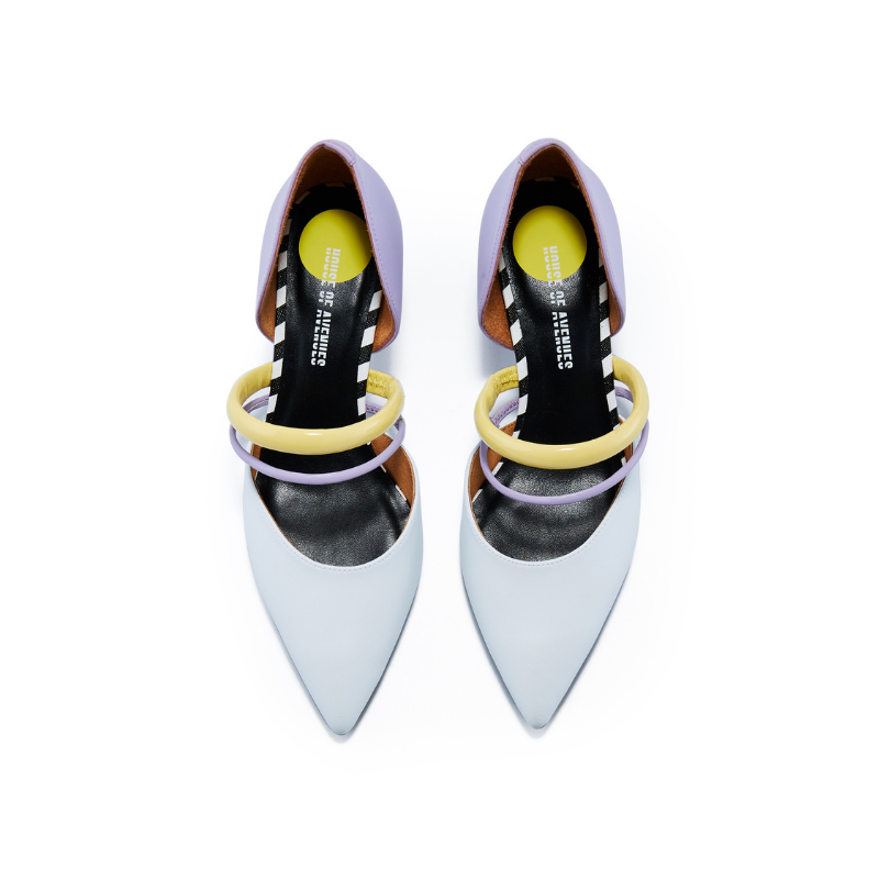 Ladies Color Blocking Mary Jane Pumps 5601 White - House of Avenues - Designer Shoes | 香港 | 女鞋 House of Avenues