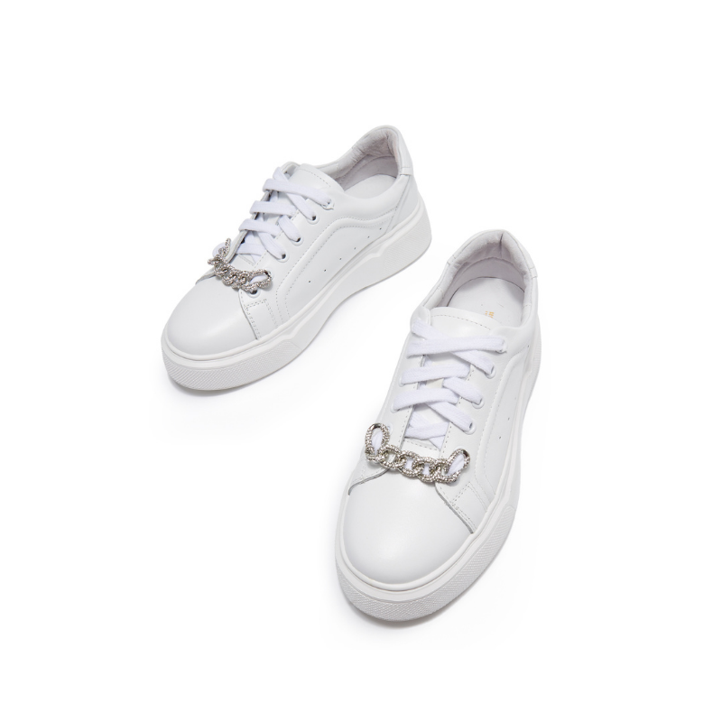 Ladies White Sneaker 5701 SLV - House of Avenues - Designer Shoes | 香港 | 女鞋 House of Avenues