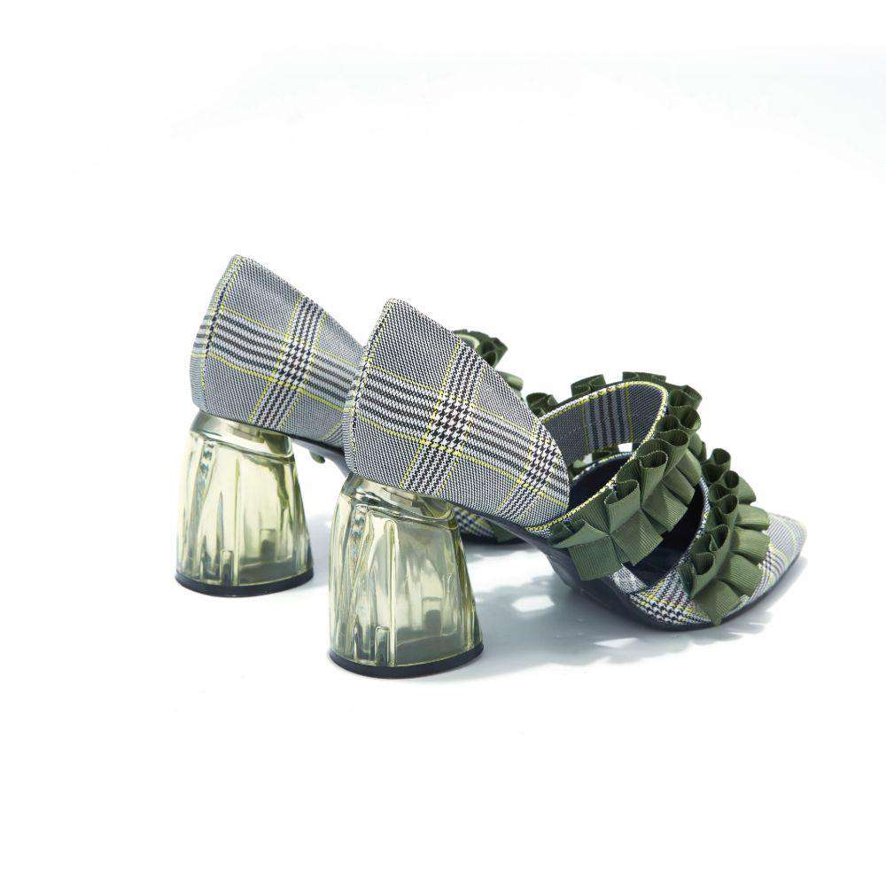 Ladies' Mary Jane Pumps Feat. Ruffle Bands 4162 Green - House of Avenues - Designer Shoes Online 香港女鞋網店